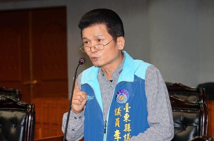 台東縣議員李建智說「其實我是被玩掉的」。(莊哲權攝)