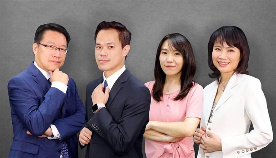 大大讀書四位說書人,左起謝文憲、許景泰、許皓宜、陳鳳馨。(圖/大大學院)