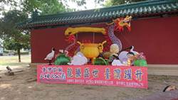 國慶花車返鄉 台灣首廟天壇放在延平郡王祠外點燈亮相