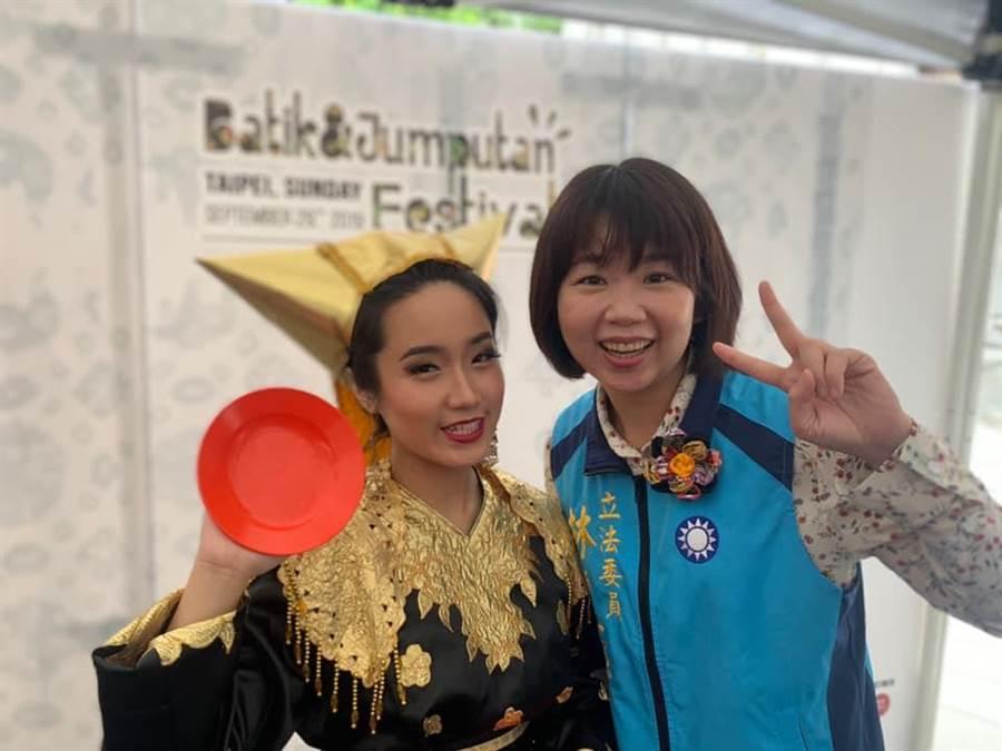 林麗蟬(右)未列國民黨不分區,網友抱屈。(取自林麗蟬臉書)