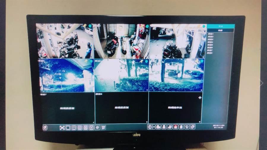 警方發現賭場加裝監視器過濾賭客,避免遭警方查緝。(警方提供/李文正台北傳真)