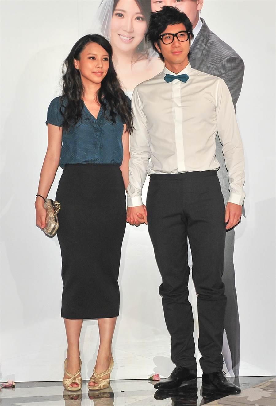 王力宏妻子李靚蕾也受邀參加婚禮。(圖/中時資料照片)