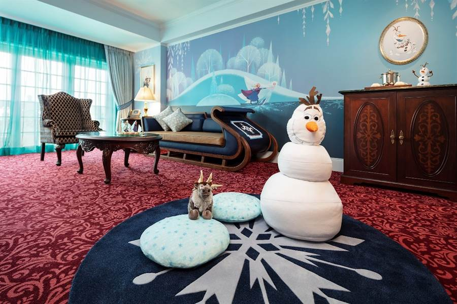 香港迪士尼樂園酒店國賓廳「《冰雪奇緣》主題套房」(圖/迪士尼提供)