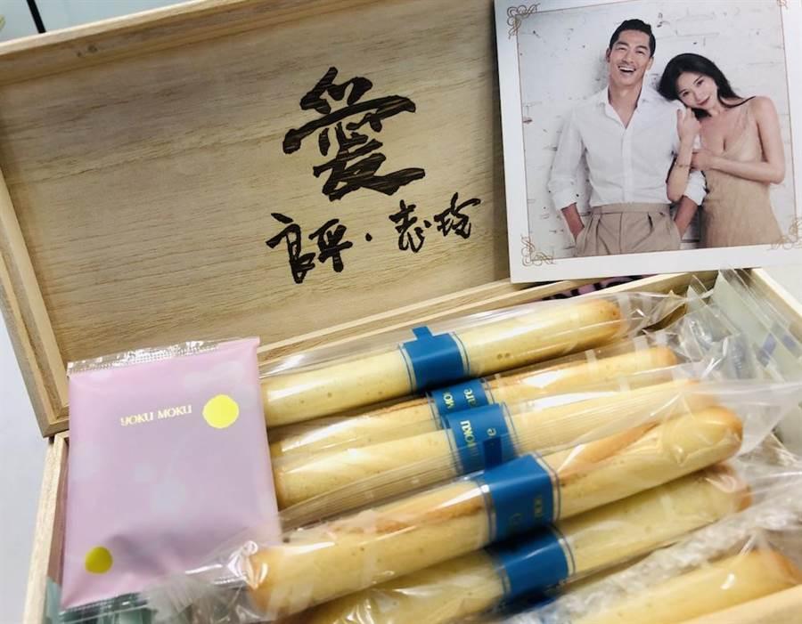 林志玲夫妻倆挑選喜餅也相當用心。(江珮瑜攝)