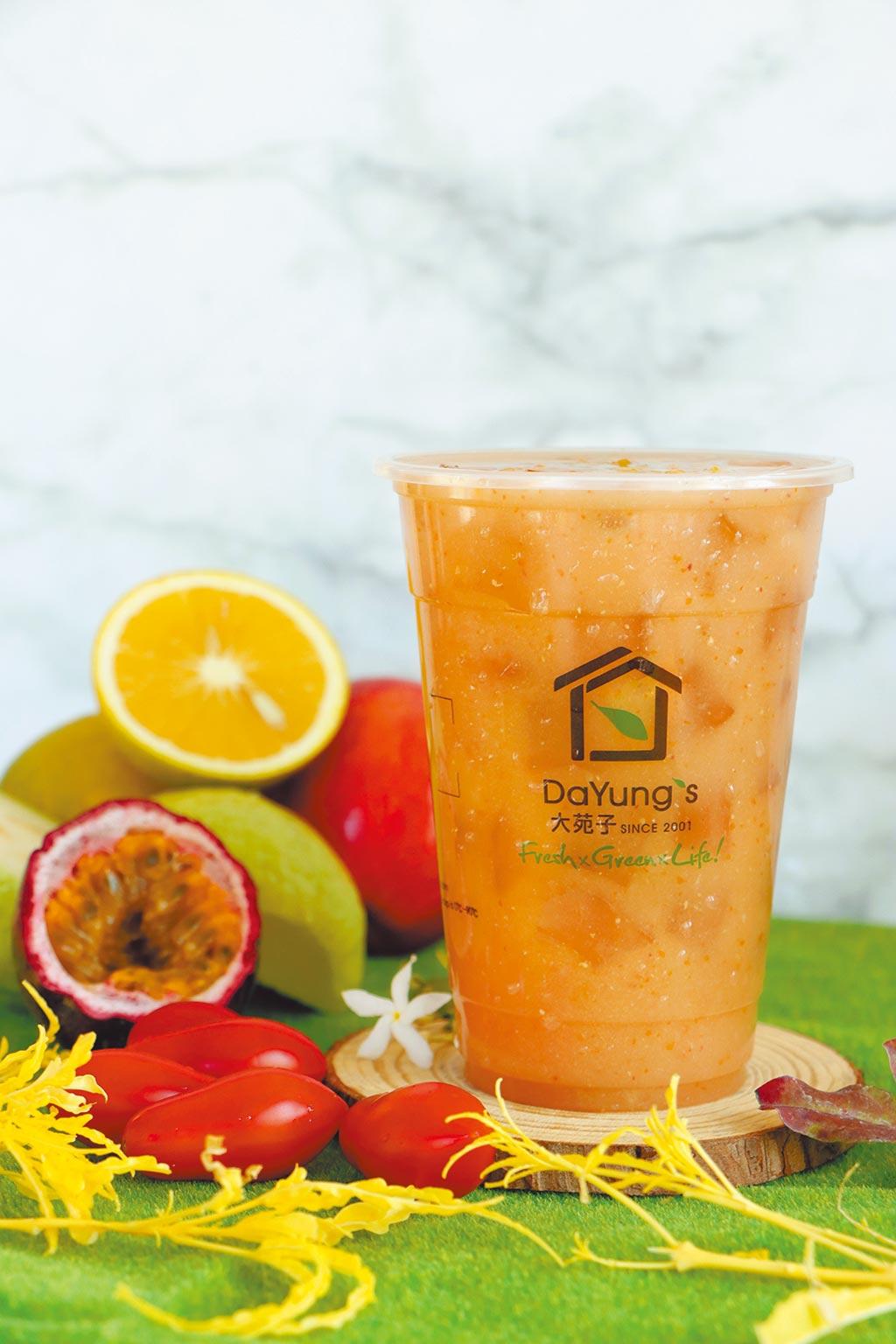 大苑子「天天5蔬果汁」,即起在全台門市上市,每杯售價60元起。(大苑子提供)