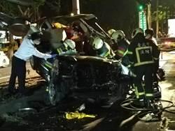 北市男子駕車自撞辛亥路路樹  送醫搶救中