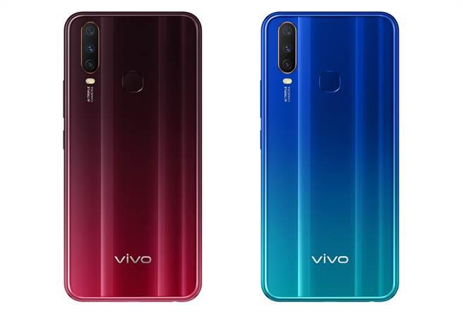 vivo Y12勃艮第紅色以及湖水藍色。(vivo提供/黃慧雯台北傳真)