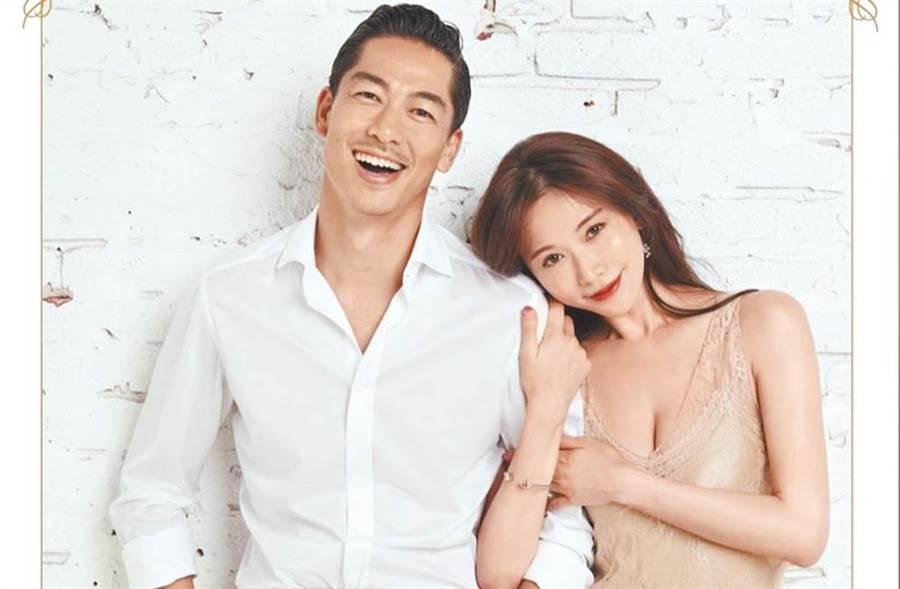林志玲與「放浪兄弟」成員Akira,於老家台南舉行婚禮。(圖/林志玲工作室)