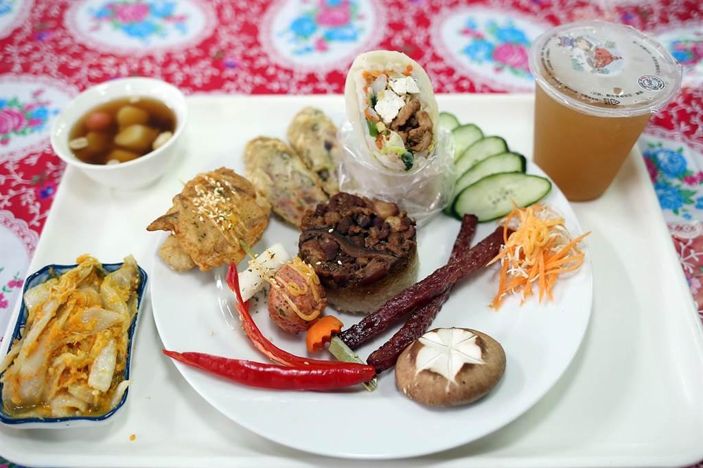 東市場經典美食套餐。(張毓翎攝)