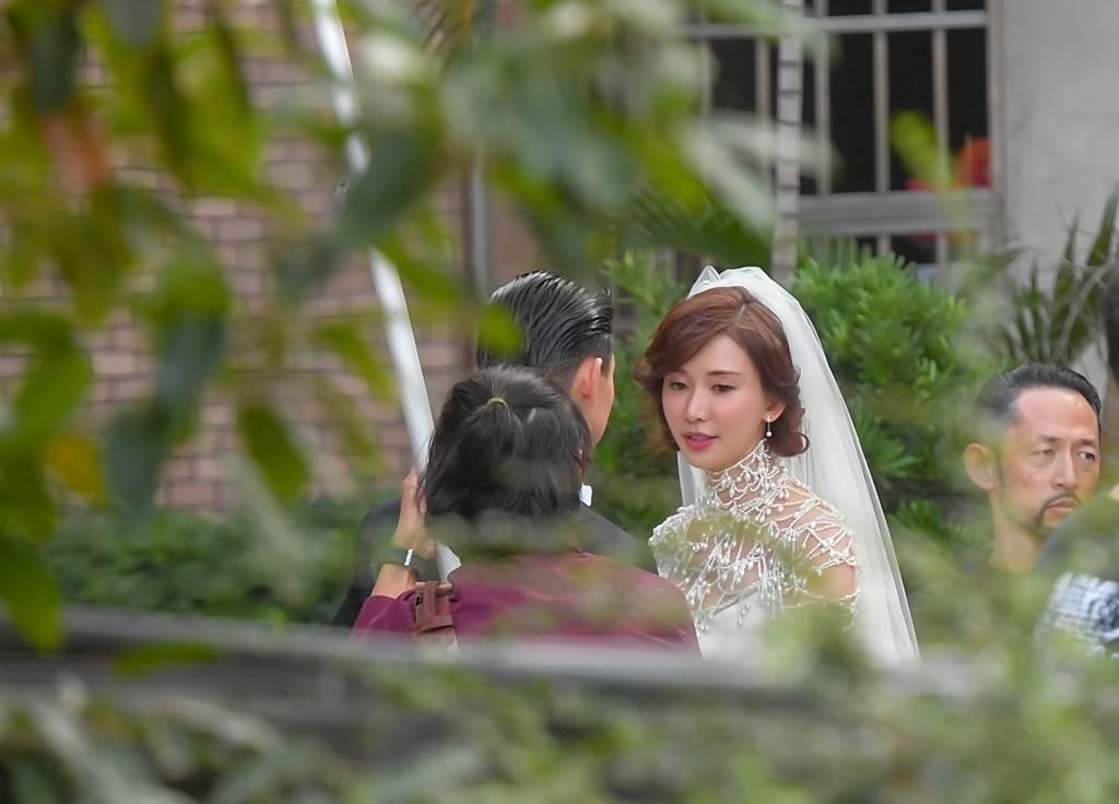 林志玲和老公Akira彩排婚宴,婚禮婚紗首度曝光。(圖/盧禕祺攝)