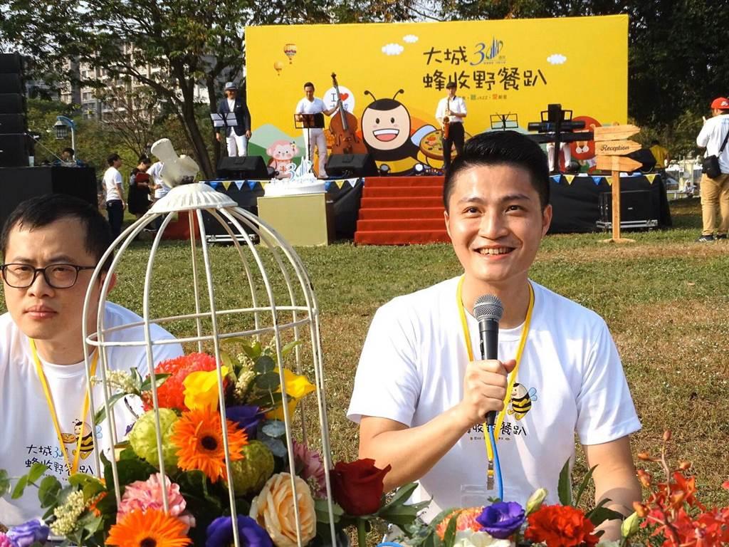 大城營建機構‧台灣亞銳士董事長特助賴亮成表示,因為客戶買房子後,享受舒適安全的居住環境,就是最佳最有說服力的口碑。(盧金足攝)