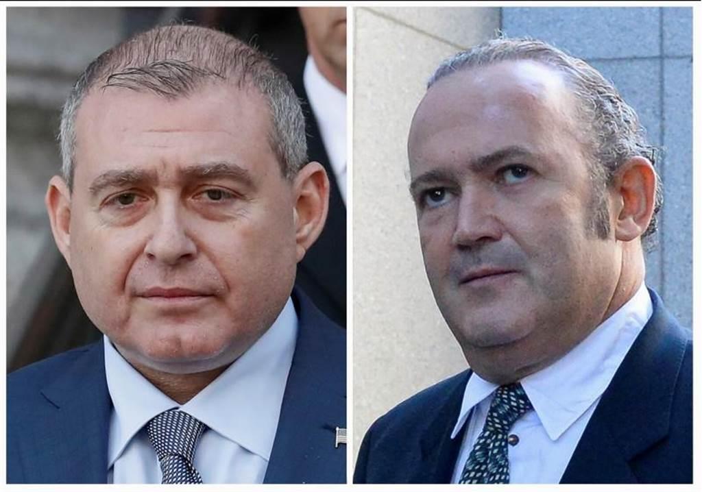 具前蘇聯背景的佛州商人帕納斯(Lev Parnas,左)與佛魯曼(Igor Fruman,右),是川普總統的私人律師朱利安尼在「通烏門」的扒糞助手。(路透)