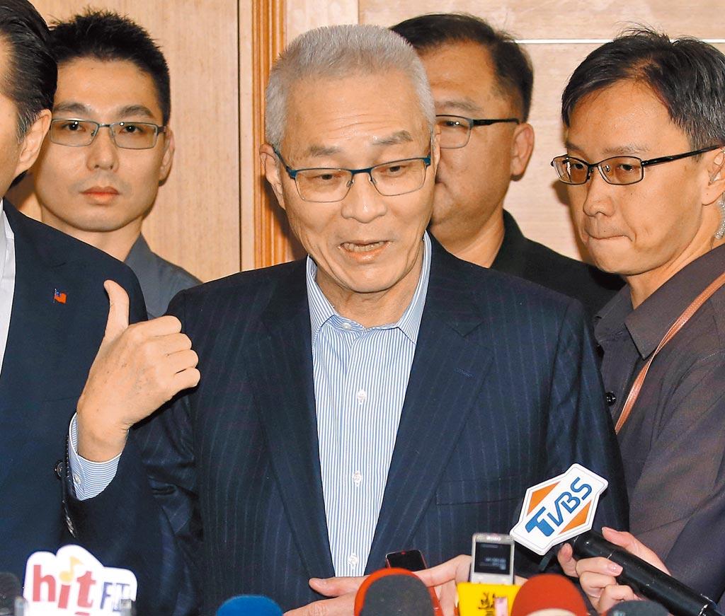 國民黨黨主席吳敦義。(本報系資料照)