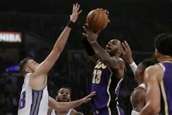 NBA》一眉哥再見麻辣鍋 湖人驚險取勝