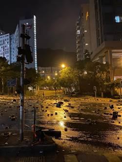 香港城市大學:占校黑衣人疑非該校師生