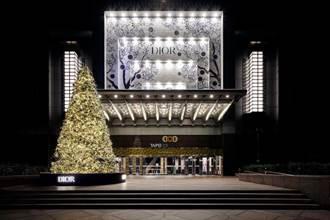 Dior超大耶誕樹在台北101! 非洲叢林、動物都來湊熱鬧