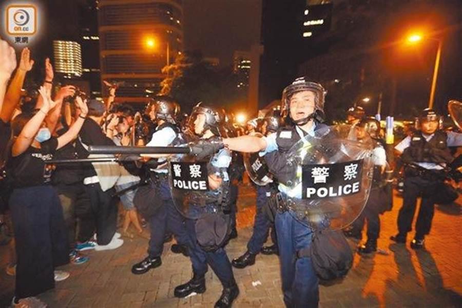 香港亂局引發中美角力(取自東網)