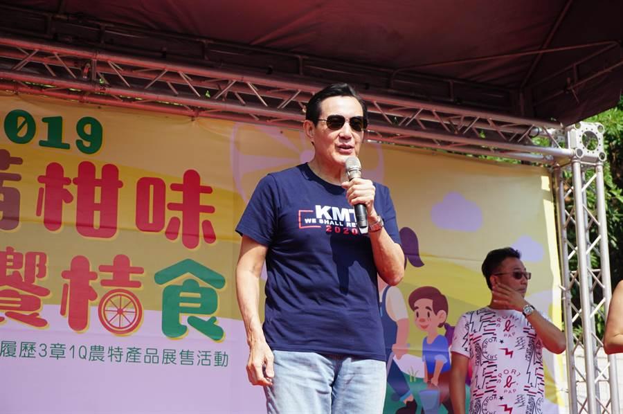 國民黨不分區立委名單引發黨內激烈反彈,前總統馬英九受訪強調「吳主席有足夠的智慧去處理」。(王文吉攝)