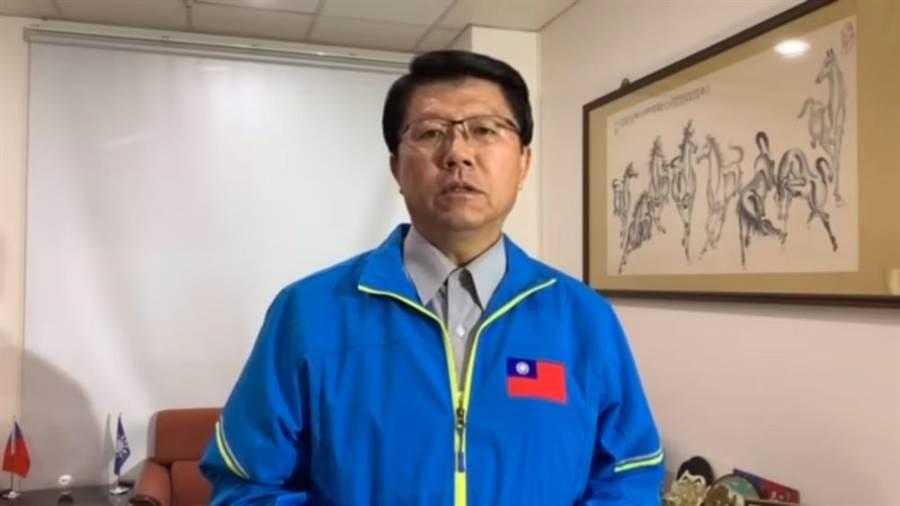 國民黨台南市黨部主委謝龍介15日晚間宣布將在選後參選國民黨主席。(程炳璋攝)