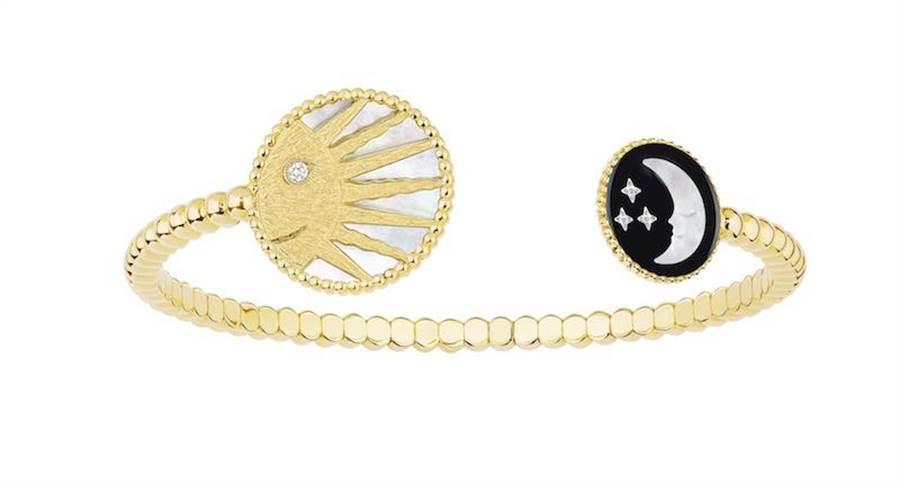 Dior Rose Celeste黃金手環,24萬元。(Dior提供)