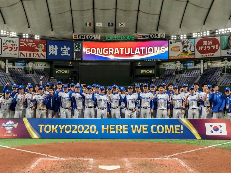 剛拿到奧運門票的韓國隊今晚遭日本隊痛擊。(摘自國際棒壘球總會官網)