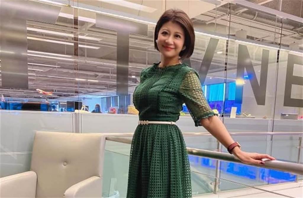 林楚茵不僅是電視台主播,還是民進黨市議員梁文傑妻子。(取自林楚茵臉書)
