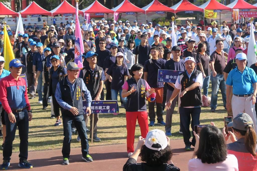 副市長楊瓊瓔前往與大家同樂。(台中市政府提供/陳世宗台中傳真)