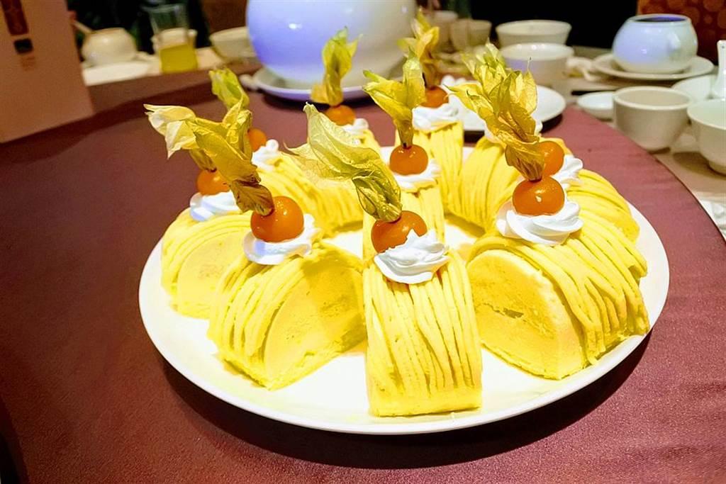 溪頭米堤大招牌養生地瓜蛋糕。