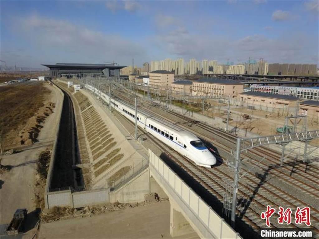 張大高鐵試跑,山西北部首條高鐵將開通。(照片取自中新網)