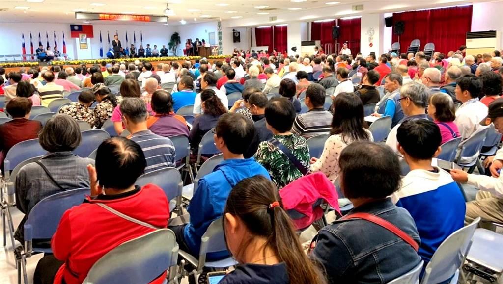 ▲南投縣歡慶國民黨125周年黨慶,黨員出席熱烈。(楊樹煌攝)