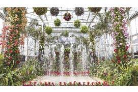 北京植物園溫室。(新華社資料照片)