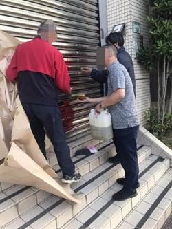 台灣建國黨主席 桃市選委會噴漆「X你祖公媽」