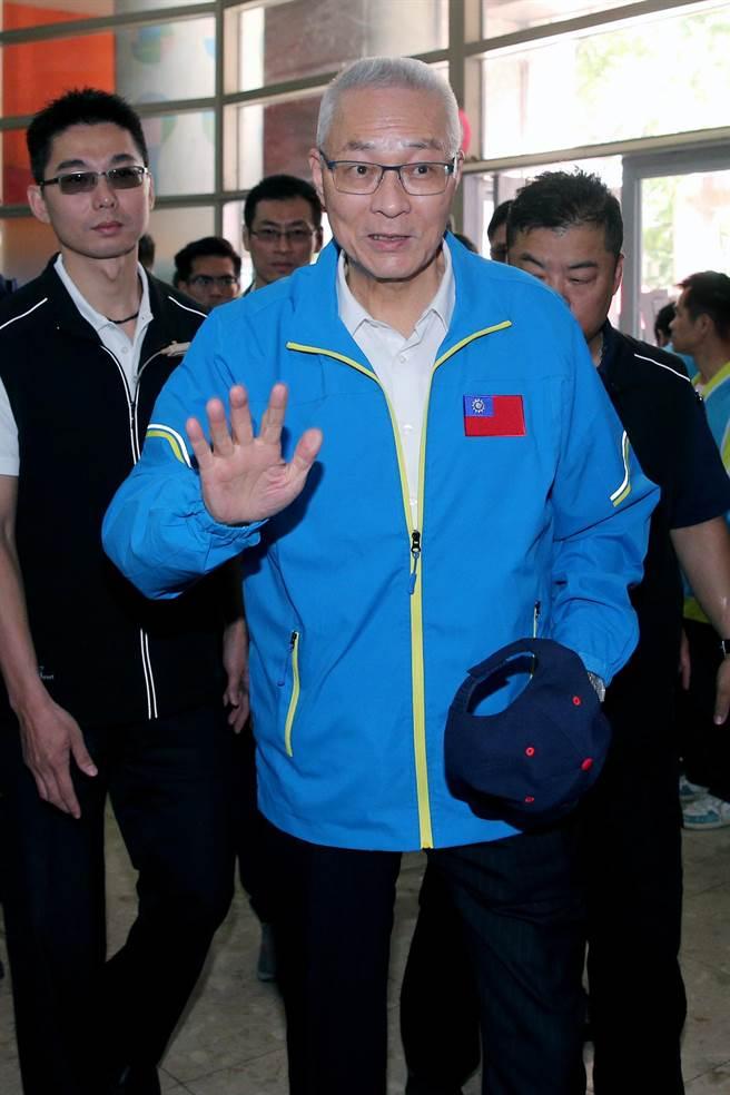 國民黨主席吳敦義。(黃世麒攝)