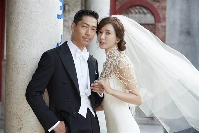 林志玲大婚日本男星Akira。(圖/林志玲工作室提供)