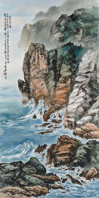 蘇峯男,北濱攬勝,紙本設色,2010年。照片提供長歌藝術傳播