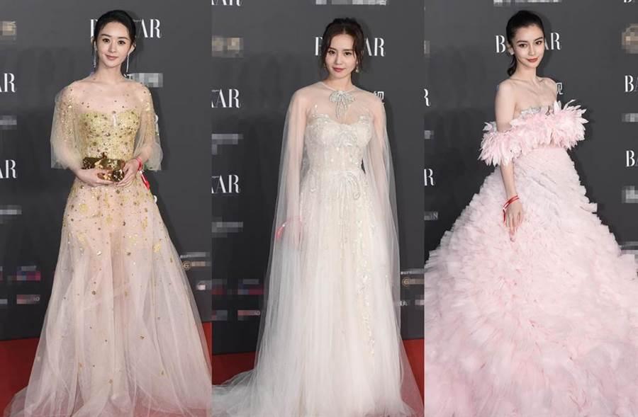 3辣媽劉詩詩、趙麗穎、baby同台比美。(圖/翻攝自新浪娛樂)