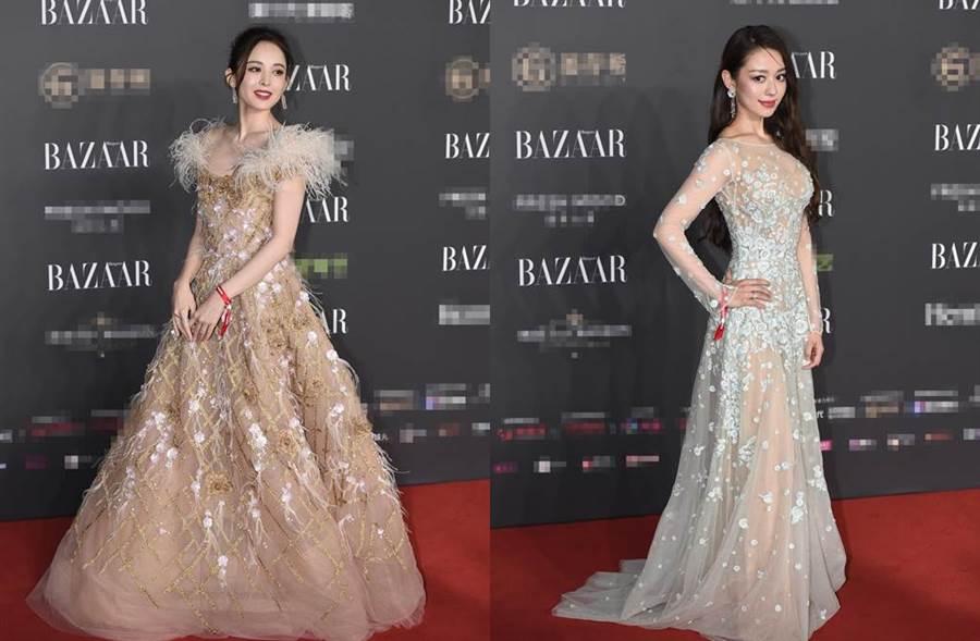 新疆美女古力娜扎和朗朗德韓混血辣妻吉娜愛麗絲相當亮眼。(圖/翻攝自新浪娛樂)