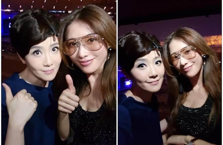 寇乃馨今晚將參加林志玲的婚宴。取自臉書