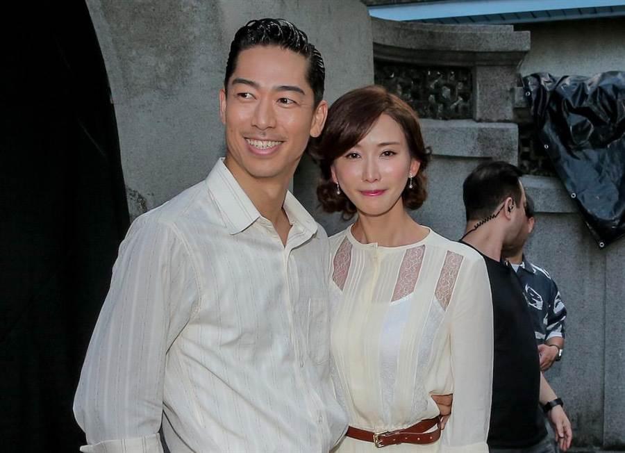 林志玲夫婦現身台南彩排婚禮。(盧禕祺攝)