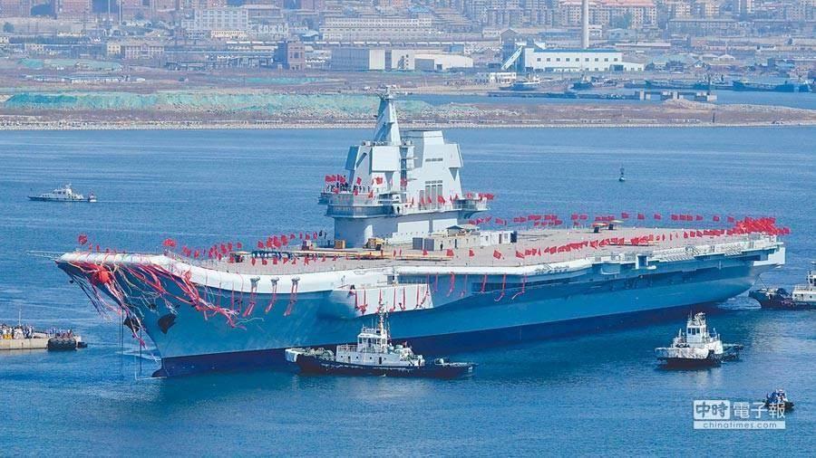 中國大陸首艘自製航空母艦,002。(圖/中時資料照)