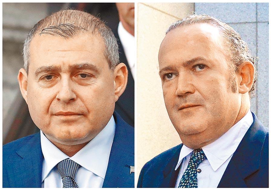 據CNN報導,今年10月被捕的商人帕納斯(左)與佛魯曼(右),是川普的私人律師朱利安尼在「通烏門」的助手。(路透)