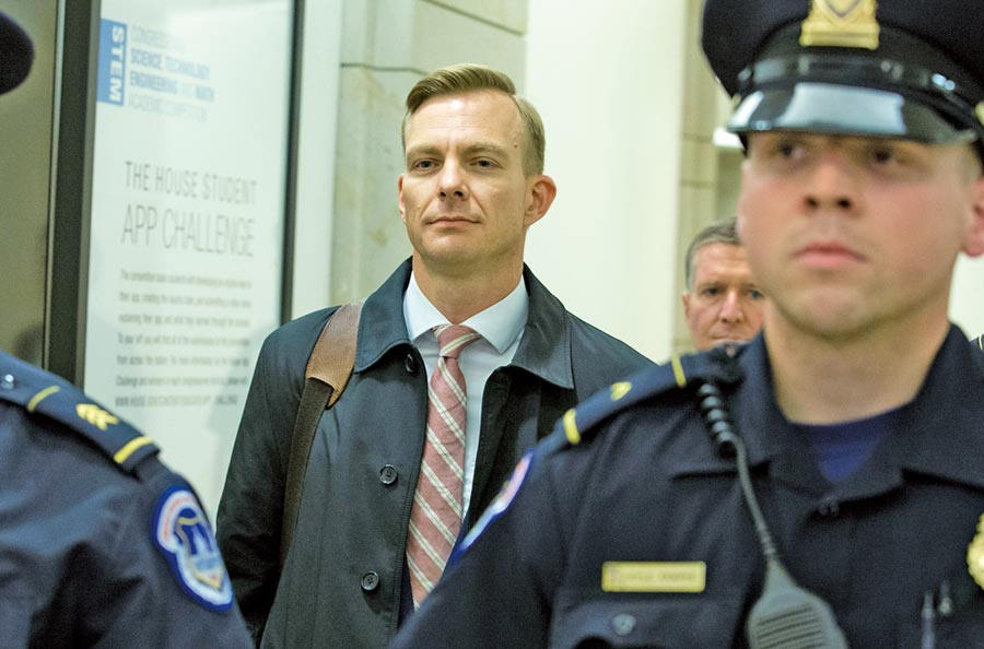 美國駐烏克蘭使館外交事務顧問霍姆斯(David Holmes)在一場閉門聽證會上作證。(美聯社)