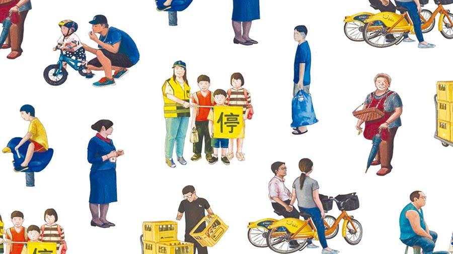 藉由這些常見的台北街頭人物,奧斯卡逐漸拼湊出屬於自己的台北風景。(奧斯卡提供/王寶兒台北傳真)