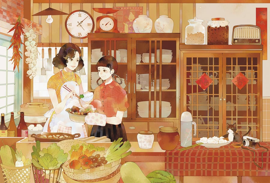 已故料理家傅培梅名氣家喻戶曉,她更是台灣第一位在電視上傳授烹飪技巧的料理家,漫畫《五味八珍的歲月》描繪了原先是料理菜鳥的她,如何搖身一變成大廚。(蓋亞文化提供/王寶兒台北傳真)