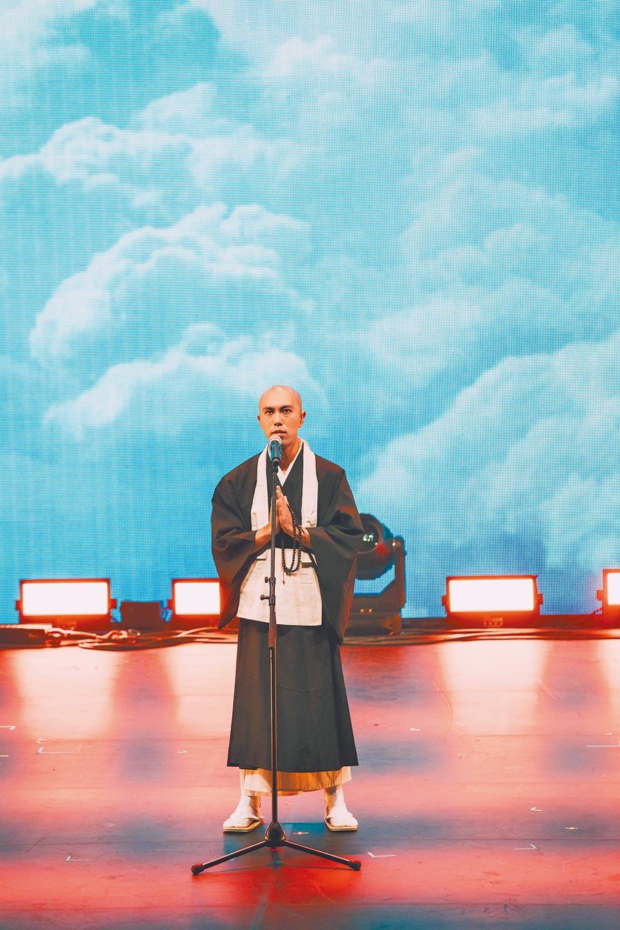 來自日本的佛系男子「藥師寺寬邦」受邀金音獎演出。(文化部影視及流行音樂產業局提供)