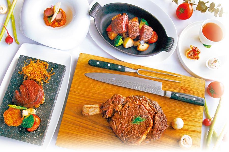 主廚丁志豪以台灣在地特色食材及烹飪手法,設計全新一季套餐。(台中亞緻飯店提供)