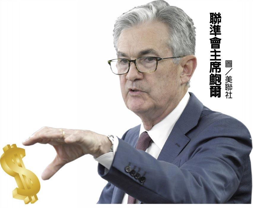 聯準會主席鮑爾圖/美聯社