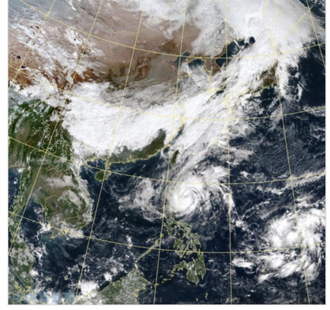 今衛星雲圖(圖/中央氣象局)