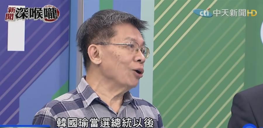 前民進黨立委沈富雄。(圖/截自中天新聞節目 新聞深喉嚨,資料照)