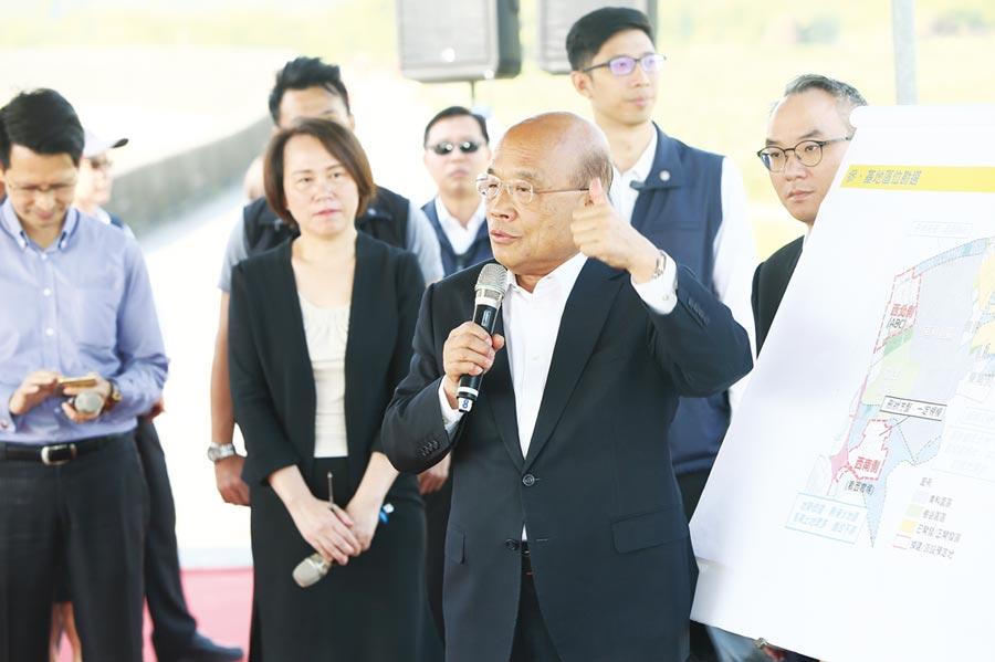 行政院長蘇貞昌提示發展方向。圖/周榮發